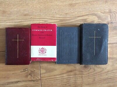 4 Pocket Size Books Common Prayer Bibles Eyre Spottiswoode William Clowes 1916 • 6.40£