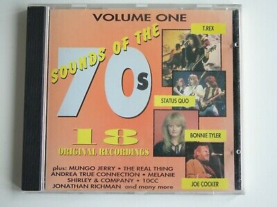 Sounds Of The 70s CD Volume One 18 Tracks Includes T Rex Status Quo  1993 Castle • 2.99£