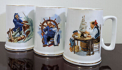 $ CDN16.80 • Buy 3 X 986 Museum Collection - Norman Rockwell Coffee Mug - Nautical Theme