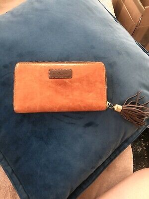 Jane Shilton Women Ladies 100% Real Leather Orange Purse With A Tassel • 13£