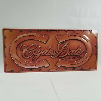 $ CDN326.90 • Buy Clydesdale Copper Vintage Anheuser Busch Beer Tin Sign Clydes Dale