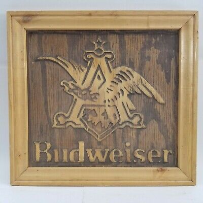 $ CDN105.44 • Buy Vintage Very Rare Wooden Budweiser Beer Sign