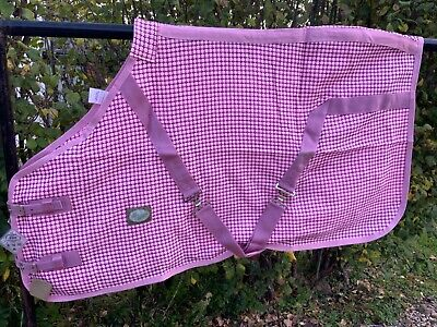 Loveson Waffle  Cooler Sheet Rug  - 4 '0 - Pink Black Check- Old Stock - Sale  S • 18.99£