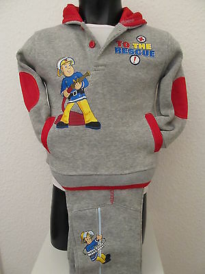 Baby Boys Jogging Suit Fireman Sam Leisure Suit Trousers Sweater Grey 62-68 • 18.93£