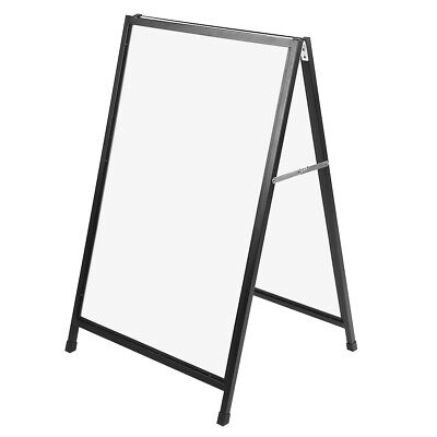 Metal Double Side Sidewalk Pavement Sign Poster Snap Frame Display Stand A-Board • 62.99£
