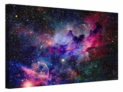 Outer Space Cosmos Dust Stars Universe  Canvas Wall Art Picture Print  • 13.50£