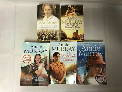 5x Annie Murray Books Hopscotch Summer Sisters Of Gold War Babies Miss Purdy's • 9.99£