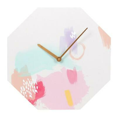 Live Colourfully Octagon Shaped Wall Clock • 9.99£