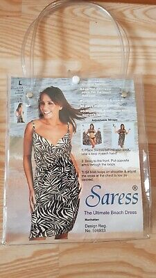 New Saress Funky Zebra Large Uk 14-16 Ultimate Summer Beach Holiday Wrap Dress • 6.95£