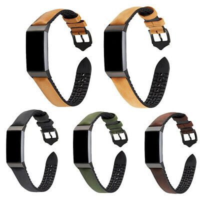 $ CDN16.65 • Buy For Fitbit Charge 2 Genuine Soft Leather Smart Watch Strap Buckle Wrist Band NEW