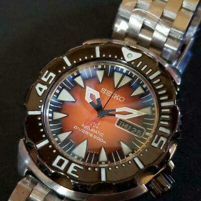 $ CDN878.49 • Buy Seiko Divers Monster Custom Orange Automatic Mens Watch Authentic Working