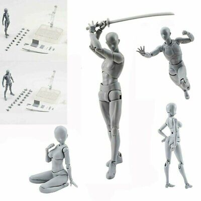 Drawing Figures For Artists Action Figure Model Human Mannequin Man Woman Kit • 13.38£