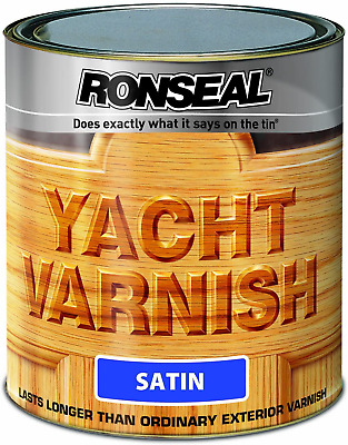 Ronseal YVS250 250ml Exterior Yacht Varnish Satin • 8.56£