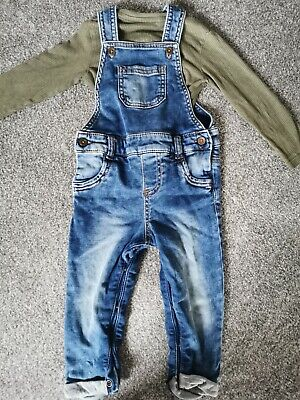 Baby Boys Jean Dungarees 12-18 Months • 3.20£