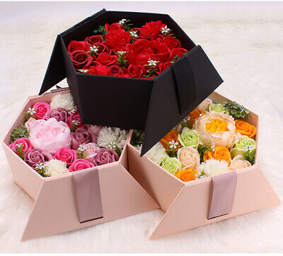 AU35 • Buy Rose Carnation Peony Soap Flowers Birthday Valentine's Day Mother's Day Gift Box