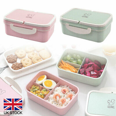 Large Capacity Lunch Box Food Container Bento Box With 3 Compartment 2 Layers UK • 7.20£