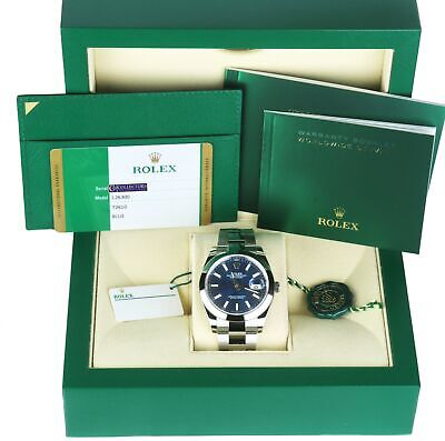 $ CDN12018.65 • Buy NEW AUG 2020 Rolex DateJust 41 Blue Stick 126300 41mm Smooth Stainless Oyster