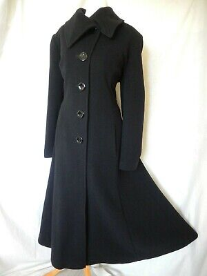 Vintage Coat Riding Victorian Edwardian Cashmere Wool Fit And Flare 40's 50's  • 150£