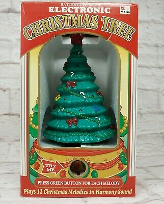 $ CDN32.81 • Buy Vintage Christmas Tree With Lights And Music 12 Melodies Songs 11 Inch Tall