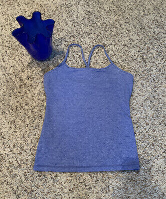 $ CDN29.07 • Buy Lululemon Womens Sz 10 Power Y Tank Top Shelf Bra Racerback Blue NICE!