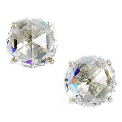 $ CDN27.73 • Buy Nwt Kate Spade Bright Ideal Round Stud Earrings $38 Clear Cubic Zirconia Silver