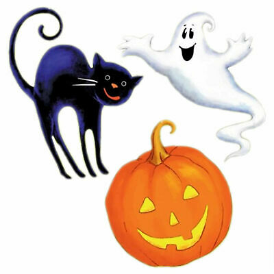 $ CDN10.21 • Buy Halloween Decoration Wall Cutouts (3 Cutouts Cat, Pumpkin & Ghost)
