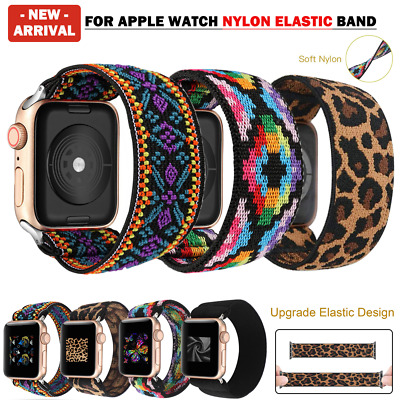 AU11.89 • Buy For Apple Watch Band Series SE 6 5 4 3 2 Nylon Elastic IWatch 38/40/42/44 Strap