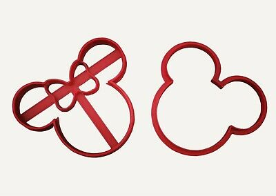 Minnie Mickey Mouse Cookie Cutter Baking Stencil Disney Play-doh Cake Decorating • 4.67£