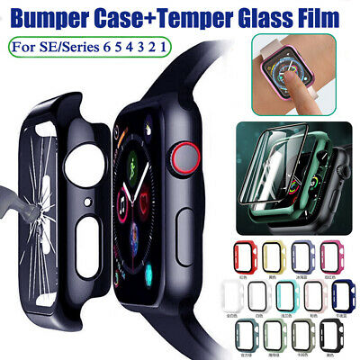 $ CDN3.09 • Buy For Apple Watch SE Series 6 5 Temper Glass Full Body Case Cover Screen Protector