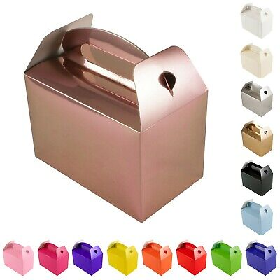 £6.15 • Buy Recyclable Plain Party Food Boxes Children's Wedding Favour Kids Birthday Gifts