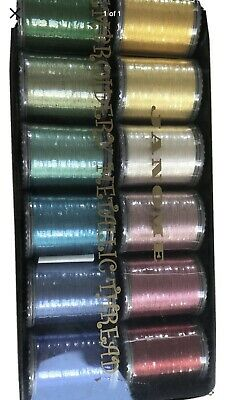 Box Janome Metallic Embroidery Thread New Sealed • 15.50£