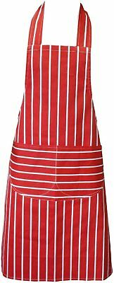 £1.99 • Buy Clay Roberts Chefs Apron, Red, Cooking And Baking Apron For Men And Women, Kitch