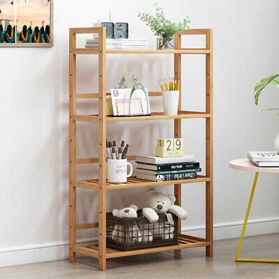 4 Tiers Stand Shelf Shoe Rack Organiser Wooden Shelves For Living Room Kitchen • 29.93£