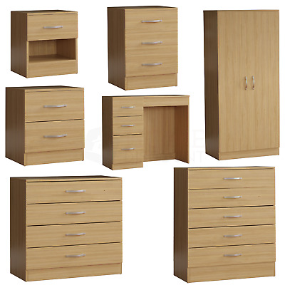 Pine Modern Chest Of Drawers Bedside Table Wardrobe 1 2 3 4 5 Drawer Bedroom • 54.95£