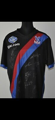 Crystal Palace Fc Shirt 2013-2014 Evil Sash Bnwt Large Squad Signed Mint • 130£