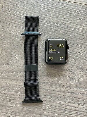$ CDN158.18 • Buy Apple Watch Series 3 Stainless Steel Case With Milanese Loop - Space Black
