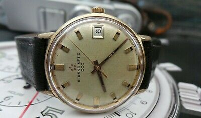 Eternamatic 1000 Calibre 1489k Gold Plated Gents Vintage Watch-needs A Service! • 17£