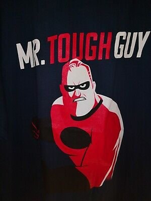BNWT The Incredibles 2 Mr Tough Guy Official Disney Pixar Blue Mens T-shirt XXL • 4.99£