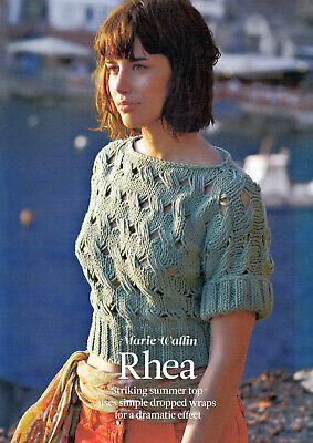 KNITTING PATTERN 81-127cm CROPPED TOP RIBBED BOAT-NECK SHORT-SLEEVE TKM M9A • 3.60£