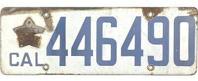 $ CDN133.33 • Buy 1919 California Porcelain License Plate #464490 No Reserve