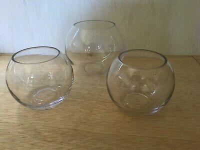 3 X Fishbowls Ideal Wedding Table Decorations./candy Buffet. Excellent Condition • 6£