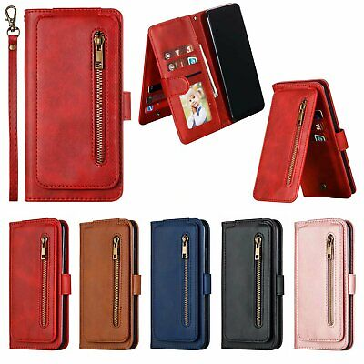 AU11.47 • Buy Luxury Holder Card Wallet Stand With Strap PU Leather Case Cover For Cell Phone