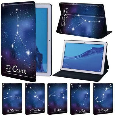 Star Sign Tablet Leather Stand Cover Case For Huawei MediaPad T3 8 10 / T5 10 • 7.99£