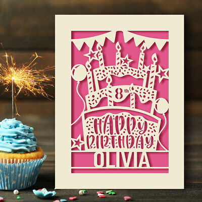 Personalised Birthday Card Custom Gift For Her Kids Grandaughter Friend 13 18 21 • 4.99£