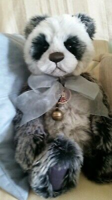 Charlie Bears, DOMINIC Panda Bear CB194522 Retired Collection Collectable Bear • 35£