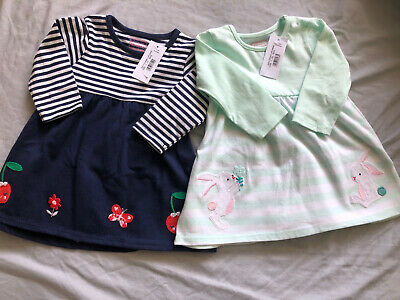 Blue Zoo Girls 0-3 Months T-shirt Dresses (x2) - BNWT • 3£