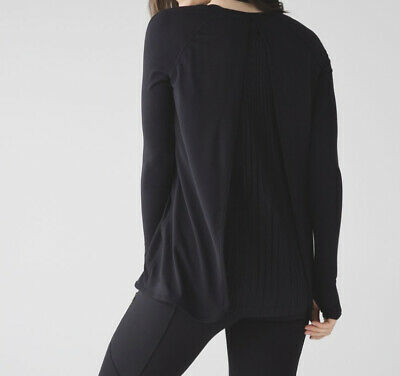 $ CDN57.99 • Buy Lululemon Making Moves Long Sleeve Black Size 6 Winter Ski Ruffles Pleats