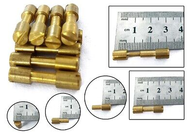 6x Brass Corby Bolt Rivets, Knife Scale Handle Making Bushcraft Tool Decoration • 7.98£