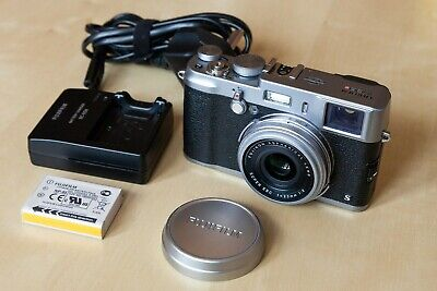 View Details Fujifilm X100S 16.3MP Digital Camera - Silver, With Battery, Charger • 325.00£