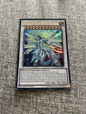 YUGIOH CARD - MP17-EN054 STARDUST SIFR DIVINE  DRAGON -1st Edition -ULTRA RARE - • 0.99£